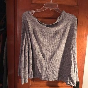 Off the Shoulder Free People Knit Sweater